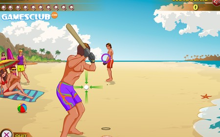 beach baseball flash games butkaj com