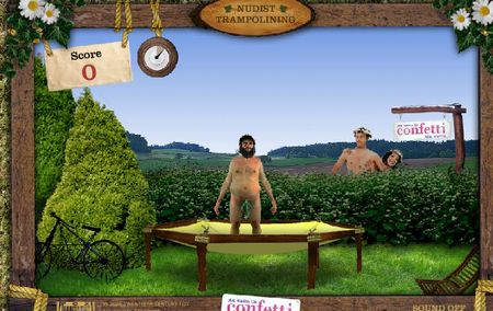 Nudist Trampolining