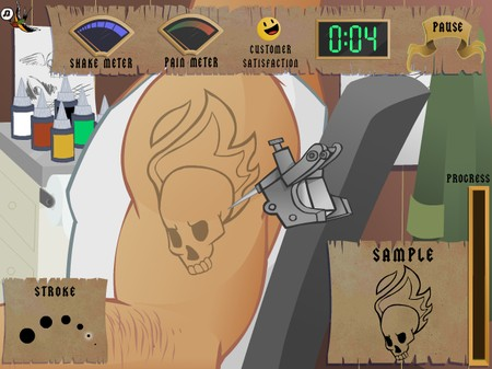 Flash Games - Tattoo Artist - Butkaj.com